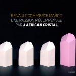 Renault Commerce Maroc se distingue à l'African Cristal !